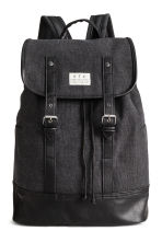 Cotton canvas backpack - Black - Men | H&M 1